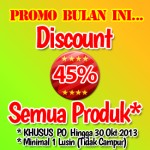 Promo Discount 45% Semua Produk