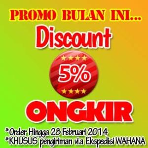 Discount Ongkos Kirim Ke Seluruh Indonesia