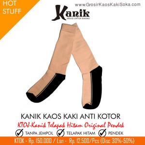 Kaos Kaki Kanik Telapak Hitam Original Pendek
