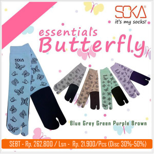SEBT-Kaos Kaki Soka Essentials Butterfly