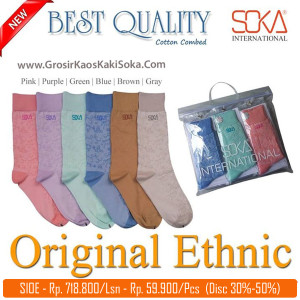 Kaos Kaki Soka International Original Ethnic